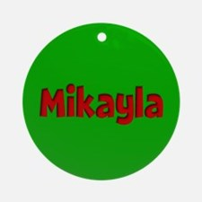 Mikayla Green and Red Ornament (Round)