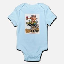 """Dune It Right"" Dune Buggy Cartoon Infant Bodysuit"