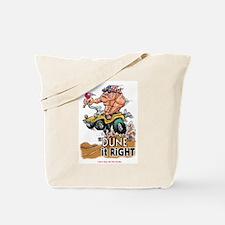 """Dune It Right"" Dune Buggy Cartoon Tote Bag"