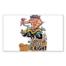 """Dune It Right"" Dune Buggy Cartoon Bumper Stickers"