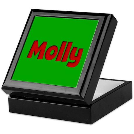 Molly Green and Red Keepsake Box