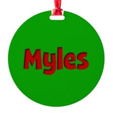 Myles Green and Red Ornament