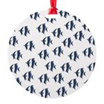 Blue Fish Round Ornament