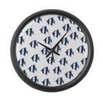 Blue Fish Large Wall Clock