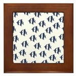 Blue Fish Framed Tile
