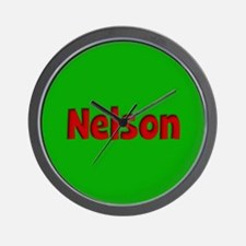 Nelson Green and Red Wall Clock