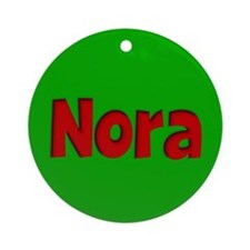 Nora Green and Red Ornament (Round)