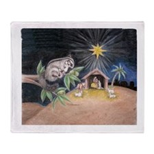 At the Manger Throw Blanket