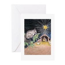 At the Manger Greeting Cards (Pk of 20)