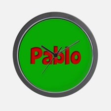 Pablo Green and Red Wall Clock