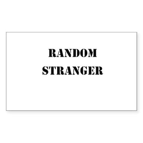 Random Stranger Sticker (Rectangle)