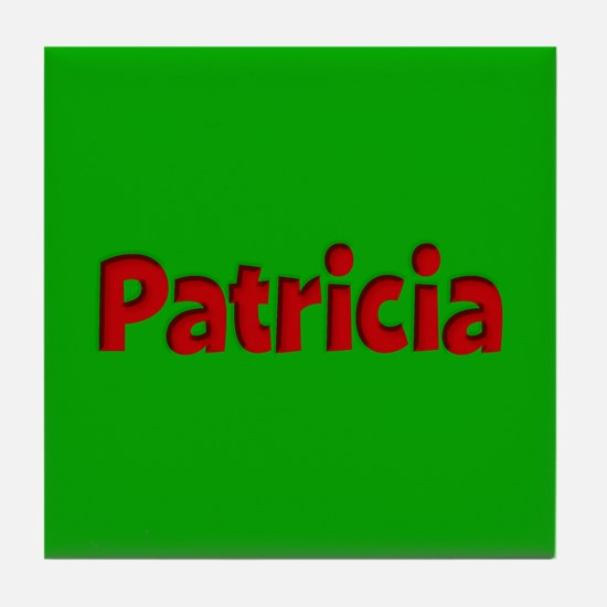 Patricia Green and Red Tile Coaster