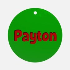 Payton Green and Red Ornament (Round)