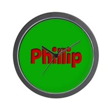Phillip Green and Red Wall Clock