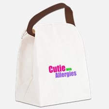 Cutie With Allergies Canvas Lunch Bag