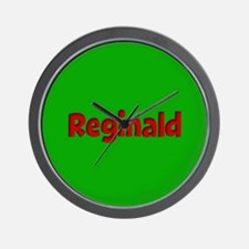 Reginald Green and Red Wall Clock