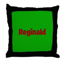 Reginald Green and Red Throw Pillow