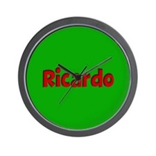 Ricardo Green and Red Wall Clock