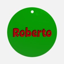 Roberto Green and Red Ornament (Round)