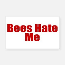 Bees Hate Me Rectangle Car Magnet
