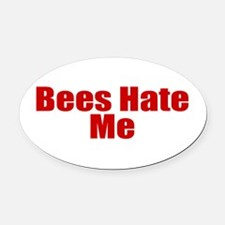 Bees Hate Me Oval Car Magnet
