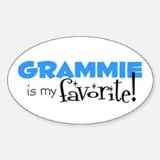 Grammie is my Favorite Oval Decal