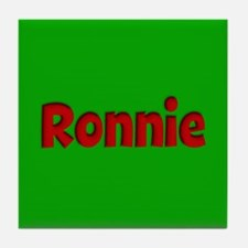Ronnie Green and Red Tile Coaster