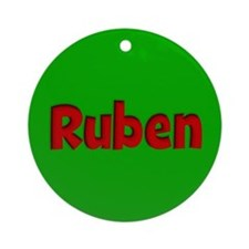 Ruben Green and Red Ornament (Round)