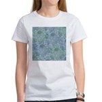 Blue and Green Peonies Women's T-Shirt