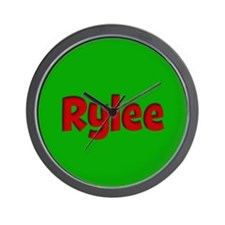 Rylee Green and Red Wall Clock