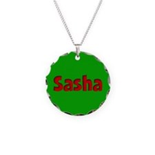 Sasha Green and Red Necklace