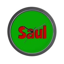 Saul Green and Red Wall Clock