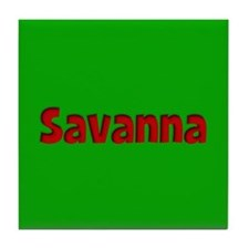 Savanna Green and Red Tile Coaster