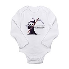 Hanging with Grim Long Sleeve Infant Bodysuit