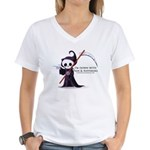 Hanging with Grim Women's V-Neck T-Shirt
