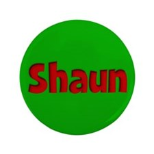"Shaun Green and Red 3.5"" Button"