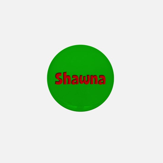 Shawna Green and Red Mini Button