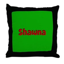 Shawna Green and Red Throw Pillow