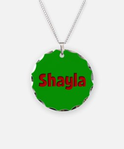 Shayla Green and Red Necklace