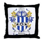 Jeffrey Coat of Arms Throw Pillow