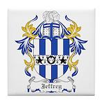 Jeffrey Coat of Arms Tile Coaster