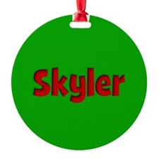 Skyler Green and Red Ornament