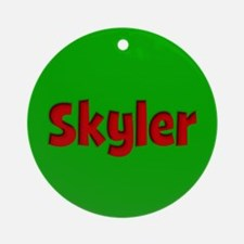 Skyler Green and Red Ornament (Round)