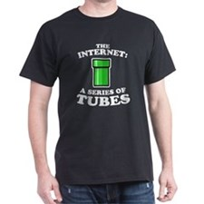 The internet: a series of tub Black T-Shirt