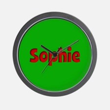 Sophie Green and Red Wall Clock