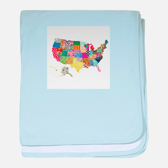 Everything Mapped America baby blanket