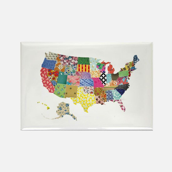 Everything Mapped America Rectangle Magnet