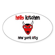HK DEVIL ITEMS Oval Stickers