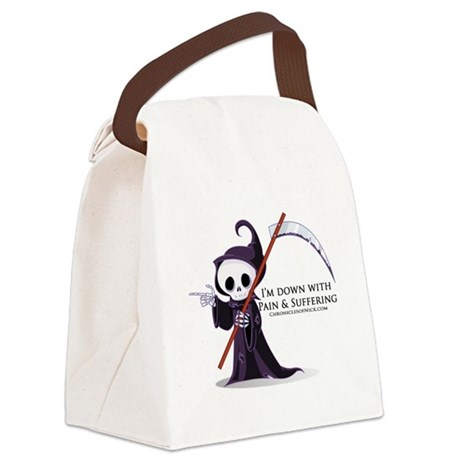 Hanging with Grim Canvas Lunch Bag