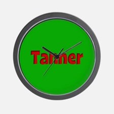 Tanner Green and Red Wall Clock